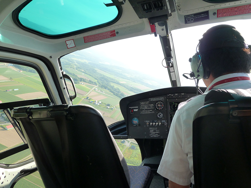ニセコでのヘリコプター遊覧