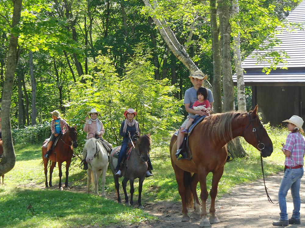 ニセコでの乗馬体験