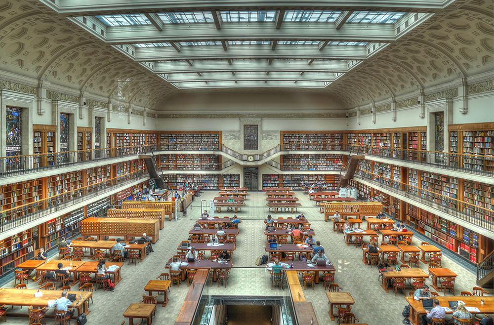 ニューサウスウェールズ州立図書館 旧館の中